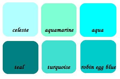 shades of cyan (Wiki)
